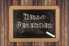 Olá! dezembro - quadro imagens de stock royalty free