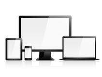 Olá! dispositivos eletrónicos do vetor da qualidade Fotos de Stock