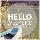 Olá! fim de semana fotografia de stock