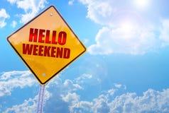 Olá! fim de semana Fotografia de Stock Royalty Free