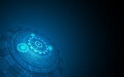Olá! fundo circular digital abstrato do projeto de funcionamento do sistema de conceito da inovação do teste padrão da tecnologia ilustração do vetor