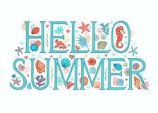 Olá! fundo do verão Fotos de Stock Royalty Free