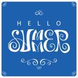 Olá! ilustração do vetor do verão Imagens de Stock Royalty Free