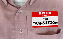 Olá! Im na etiqueta em desenvolvimento do nome da mudança da transição ilustração royalty free