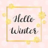 Olá! inverno  ilustração do vetor