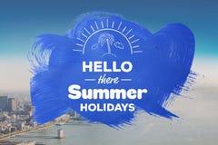 Olá! lá férias de verão Foto de Stock Royalty Free