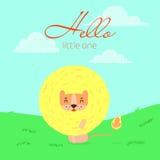 Olá! leão pequeno Fotografia de Stock Royalty Free