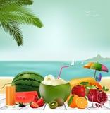 Olá! logotipo do verão ilustração stock