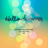Olá! o verão, verão borrou o fundo Imagens de Stock