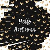 Olá! outono ilustração royalty free
