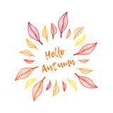 Olá! outono ilustração stock