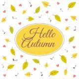 Olá! outono Imagens de Stock Royalty Free