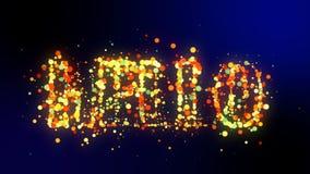 Olá! palavra que revela da animação colorida dos confetes ilustração do vetor