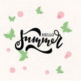 Olá! projeto da bandeira do vetor do verão Fotos de Stock Royalty Free