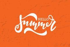 Olá! projeto da bandeira do vetor do verão Imagem de Stock Royalty Free