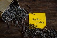 Olá! segunda-feira Imagem de Stock Royalty Free