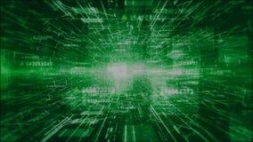 a Olá!-tecnologia digital e os gráficos do movimento da informação abstraem a cor verde do fundo filme