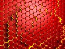 Olá!-tecnologia futurista Backgroun Teste padrão do hexágono Foto de Stock