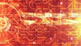 Olá!-tecnologia HUD digital e fundo holográfico da exposição do circuito Conceito da tecnologia fotografia de stock