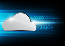 Olá! - tecnologia informática da nuvem da velocidade Foto de Stock