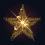 Olśniewająca gwiazda kropki i okręgi Obrazy Stock