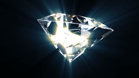Olśniewający cenny diament wiruje wokoło swój osi sprawnie zapętlać ilustracji