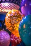 Olśniewający jaskrawi balony na przyjęciu Zdjęcie Stock