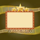 Olśniewający lekki kinowy sztandar Retro kino rama ilustracja wektor