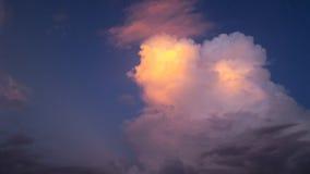 Olśniewający Piękny Obłoczny widok na zmierzchu Zdjęcie Stock