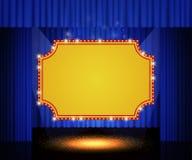 Olśniewający retro sztandar na sceny zasłonie Zdjęcia Royalty Free