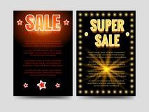 Olśniewający sprzedaży broszurki ulotek szablon royalty ilustracja