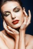 Olśniewający twarzy makeup Zdjęcia Stock