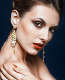 Olśniewający twarzy makeup Fotografia Stock