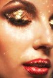 Olśniewający twarzy makeup Zdjęcie Royalty Free