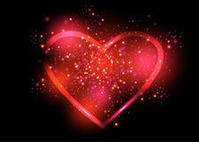 Olśniewający valentines kierowi również zwrócić corel ilustracji wektora Zdjęcie Royalty Free