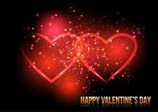 Olśniewający valentines serca również zwrócić corel ilustracji wektora Obraz Royalty Free