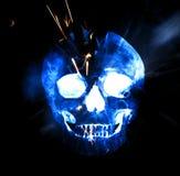 Olśniewający zmrok - błękitna czaszka Cyfrowej ilustracyjna sztuka Fotografia Stock