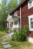 Ol-Anders lantgårdbyggnader Halsingland Sverige Royaltyfri Bild