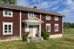Ol-Anders lantgårdbyggnader Halsingland Sverige Arkivbild