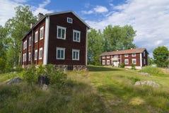 Ol-Anders lantgårdbyggnader Halsingland Sverige Royaltyfri Foto
