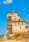 Ol Building in mountain Athos Stock Photography