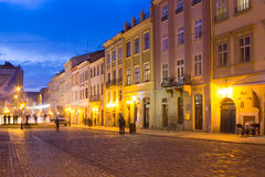 Ol city center in evening Royalty Free Stock Photo