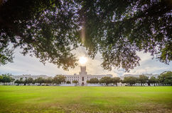 The ol d Citadel capus buildings in Charleston south carolina Royalty Free Stock Images