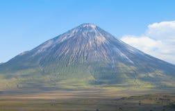 Ol Doinyo Lengai volcano in Tanzania stock image