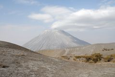 Ol Doinyo Lengai wulkan, Wielki rift valley, Tanzania, Wschodni Afryka Fotografia Royalty Free