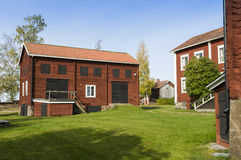 Ol-Ers farm buildings Halsingland Sweden Stock Photos