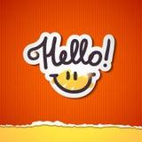 Olá! rotulação Imagens de Stock