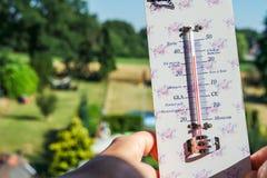 Ola de calor - las temperaturas suben muy arriba Imagen de archivo