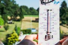 Ola de calor - las temperaturas suben muy arriba fotos de archivo