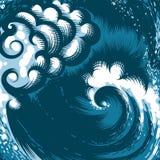 Ola oceánica libre illustration